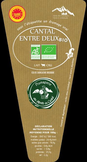 Cantal AOP au lait Cru Bio